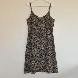 Old Navy Cream Floral Print Mini Dress Size 16